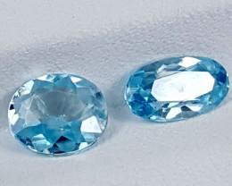 2.85Crt Blue Zircon  Best Grade Gemstones JI27