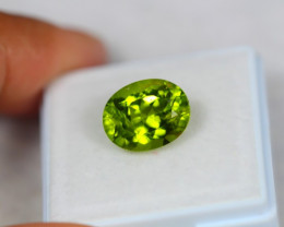 4.82ct Natural Green Peridot Oval Cut Lot Z110