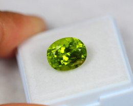5.16ct Natural Green Peridot Oval Cut Lot Z112