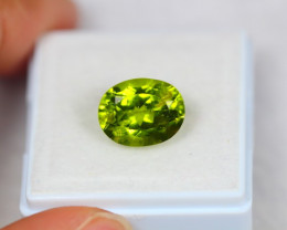 4.97ct Green Peridot Oval Cut Lot Z113
