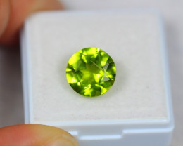 3.59ct Natural Green Peridot Round Cut Lot Z117