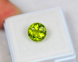 3.85ct Green Peridot Round Cut Lot Z118