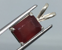 Sterling Silver Ruby Pendant Exquisite Quality Madagascar Magic !
