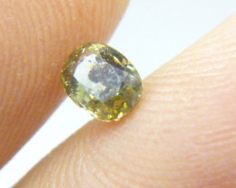 0.56ct  Fancy Intense Brown Green Diamond , 100% Natural Untreated