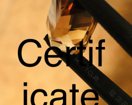 CERT - 16.0 CT IMPERIAL TOPAZ/100% Natural from BRASIL