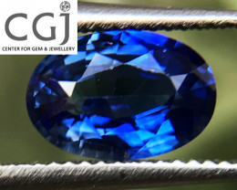 Certified - 0.91ct - Blue Sapphire
