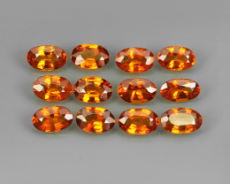 3.29 Cts_Oval Cut_Marvelous_Electric Orange Red_Africa_Sizzling_Spessarite_