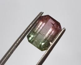 Bicolor Tourmaline Octagon  1.8ct  Pink And Green Tourmaline