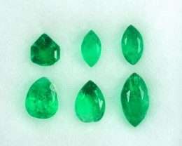 2.06Ct Natural Emerald Fancy Parcel Colombia