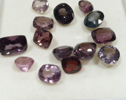 Burma Spinel Lot 10ct Red Pink Blue