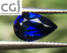 Certified - 0.72ct - Royal Blue Sapphire