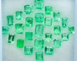 Super Green 6.92Ct Natural Colombian Emerald Parcel
