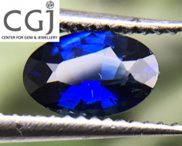 Certified - 0.40ct - Royal Blue Sapphire