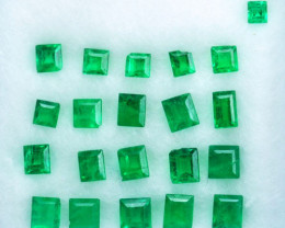 Vivid Green 3.07Ct Natural Colombian Emerald Square Parcel