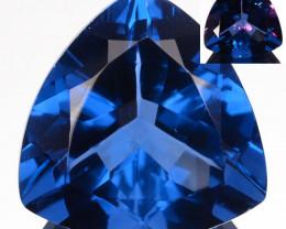 8.57Ct Natural Color Change Fluorite 13 mm Trillion Afghanistan