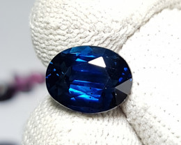 CERTIFIED 3.49 CTS NATURAL STUNNING ROYAL BLUE SAPPHIRE FROM MADAGASCAR