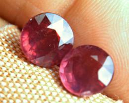 8.1 Carat 9.1mm Round Cut Rubies - Superb