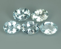4.85 Cts Sparkling Luster - Oval Gem - Natural Blue -Aquamarine NR!!!