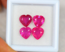 5.96ct Pink Ruby Heart Cut Lot V3787