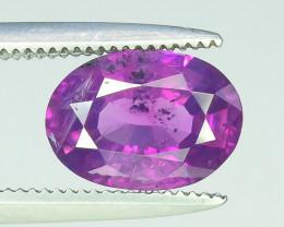 1.60 ct Untreated Pink Corundum Kashmir Sapphire
