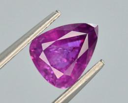 1.40 ct Untreated Pink Corundum Kashmir Sapphire