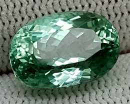 6.70CT GREEN SPODUMENE  BEST QUALITY GEMSTONE IGC79