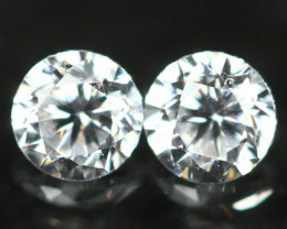 1.60mm D/E/F VVS Clarity Natural Brilliant Round Diamond Pair