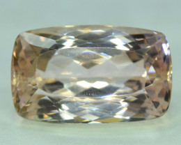 NR - 32.25 Carats Peach Pink Color Kunzite Gemstone