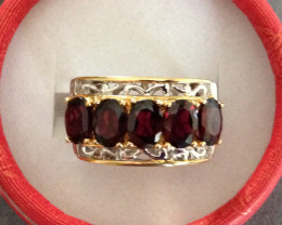 $500 Rhodolite Garnet Ring 4.50ctw.