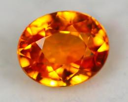 0.89ct Songea Orange Sapphire Oval Cut Lot GW3555