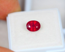 1.78ct Ruby Blood Red Color Oval Cut Lot GW3574
