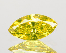Mesmerizing 0.15Ct Natural Canary Yellow Diamond Marquise