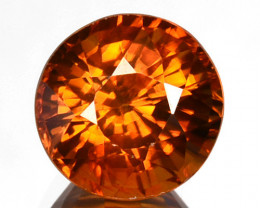 Natural Imperial Zircon Round Cut Tanzania 2.16 Cts