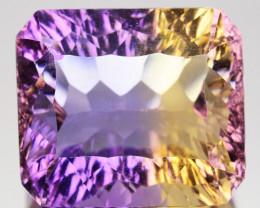Natural Bi-Color Ametrine Octagon Millennium Cut Bolivia 8.82 Cts