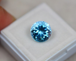 4.82ct Blue Topaz Round Cut Lot V3802
