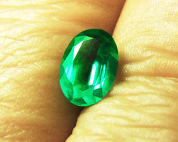 1.17 ct Top Of The Line Zambian Emerald Certified!