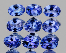 4x3 mm Oval 9pcs 1.96cts Purple Blue Tanzanite [VVS]
