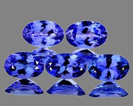 5x3 mm Oval 5 pcs 1.21cts Purple Blue Tanzanite [VVS]