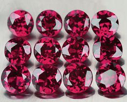 3.50 mm Round 12 pcs Purplish Red Rhodolite Garnet [VVS]