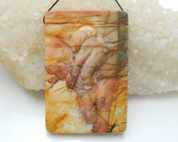 Amazing Great Craft Abstract Pendant Bead ,Multi Color Jasper Pendant C65