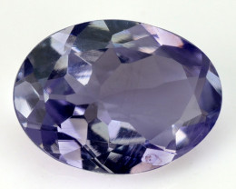0.98 CTS FANCY VIOLET BLUE COLOR NATURAL TANZANITE  LOOSE GEMSTONE