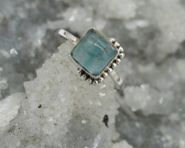 RING 925 STERLING SILVER CHALCEDONY  NATURAL GEMSTONE JE1708