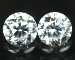 1.60mm D/E/F VS Natural Round Brilliant Cut Diamond Pair