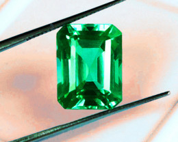 1.73 ct Exceptional Zambian Emerald Certified!Top Of The Line Stone!