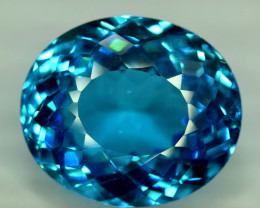 40.15  cts Electric Blue Topaz Gemstone