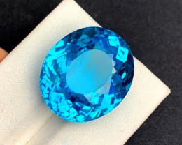 40.15  cts Electric Blue Topaz Gemstone