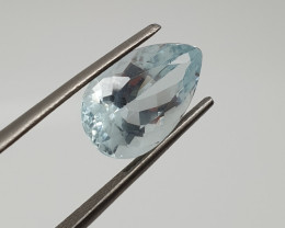Aquamarine Pear Drop  4.5ct  14x8.8mm