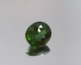 Beautiful Green Tourmaline Verdelite  Faceted Oval Cut 8.1x7.4mm 2ct