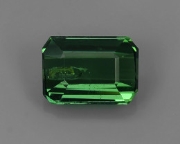 1.10 CTS-ALLURING TOP GREEN PARTY COLOR GREEN TOURMALINE OCTAGON CUT!!!
