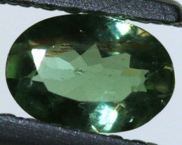 "0.50 carats Green Sapphire ""Natural and Untreated"" ANGC 811"